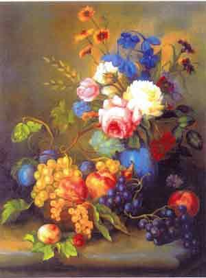 Vazoda çiçek resimleri